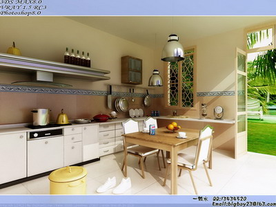 Bright kitchen restaurant 3D models