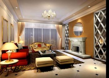 Brilliant and elegant modern living room 3D Model