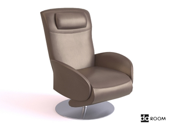 Brown casual comfortable chair 3D Model