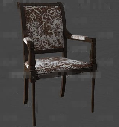 Brown fashion personality chair 3D Model
