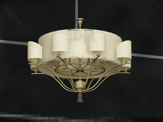 Brown lampshade-style pendant 3D Model