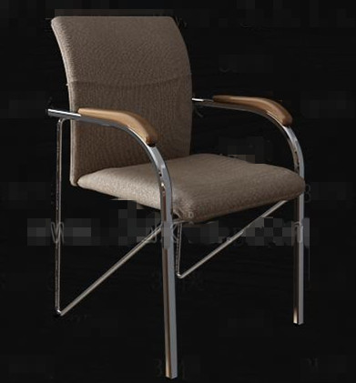 Brown simple office chair 3D Model