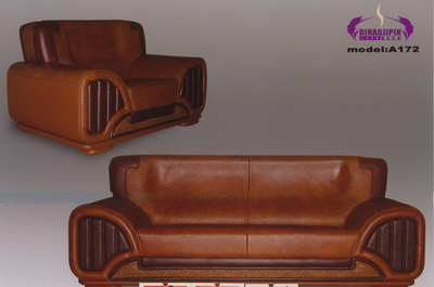 Brown sofa 3D model over the boss