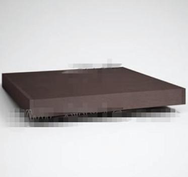 Brown wood rectangular tea table 3D Model