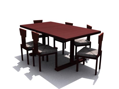 Brunet log household chair 3D models