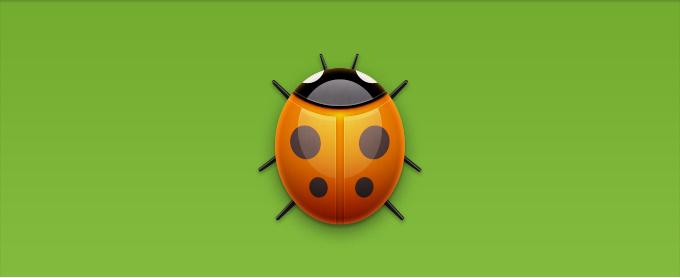 Bug Icon (Ladybug) PSD