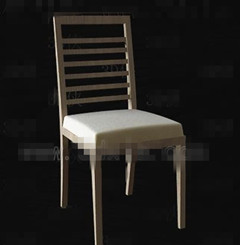 Burly wood simple chair 3D Model