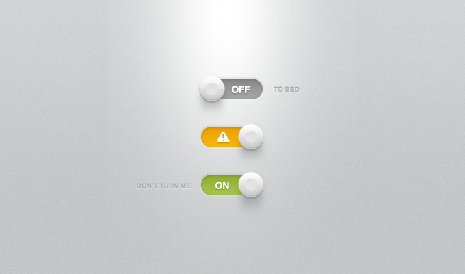 Buttons, Lights & Shadows PSD