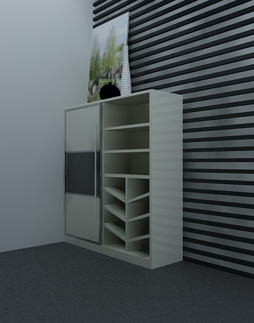 Cabinets for Shoes 3D Model