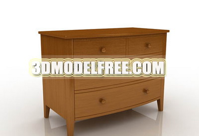 Cabinets lockers retro furniture, solid wood cabinet finishing and practical 3D model of