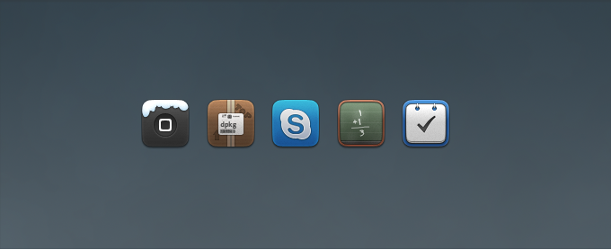 Calculator, Skype, Things, Winterboard Replacement Icons PSD