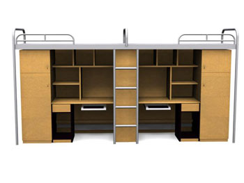 Campus-style one bed cabinet 3D Model