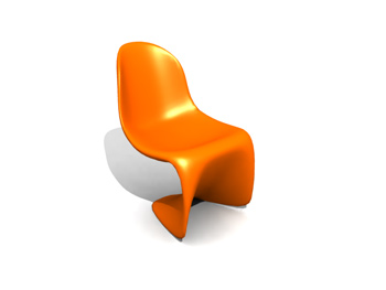 candy color avant-garde chairs free download 3D Model