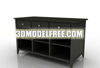Cash register cash register drawer desk table wood home furniture, multi-functional 3D models