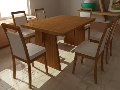 chairs 1-6 3D Model