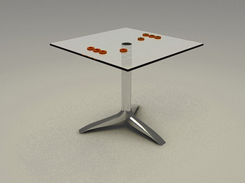 Chess chess chess table, chess table 3D Model of high-end coffee table