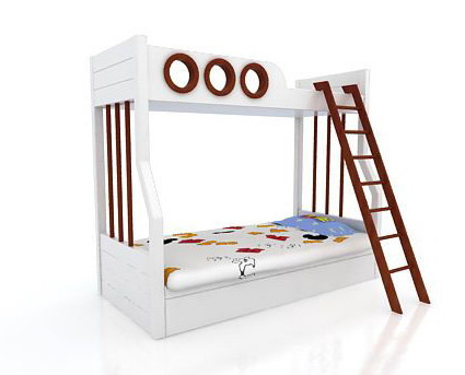 Childrens bunk beds 3D Model