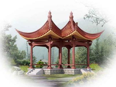 Chinese Architecture�� Coupled Pavilion 3DsMax Model