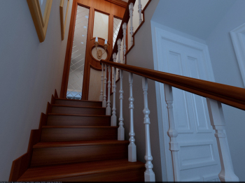 Chinese beautiful stairwell 3D Model