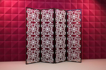 Chinese butterfly screen 3D model