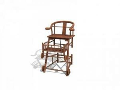 Chinese chairs-2 3D Model