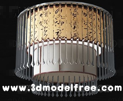 Chinese classical crystal curtain ceiling lamp 3D Model