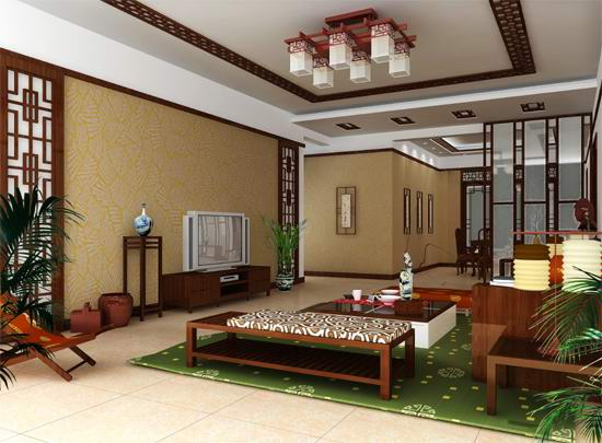 Chinese classical style living room 3D Model