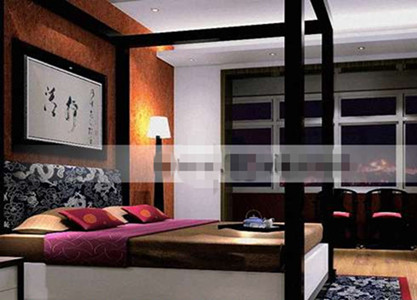 Chinese exquisite fashion bedroom 3D Model