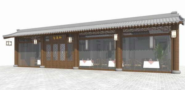 Chinese restaurants    three sets 3D Model