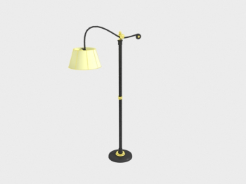 Chinese retro floor lamp 3D Model