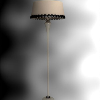 Chinese retro the single lever lampshade floor lamp 3D Model