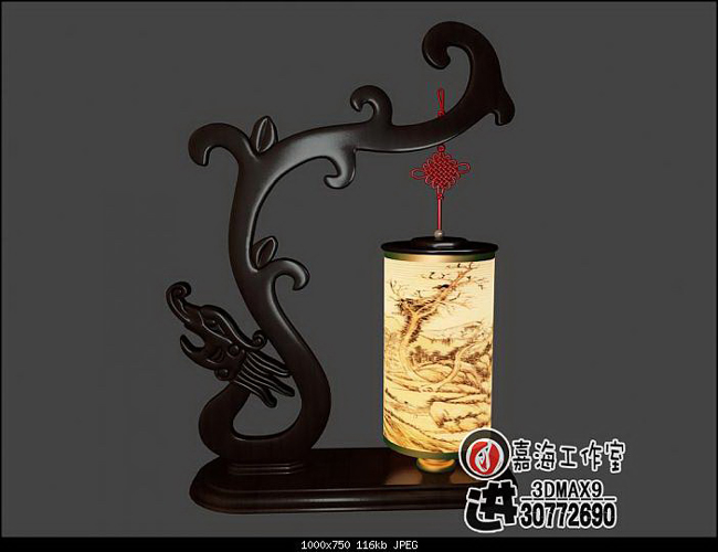 Chinese style desk lamp – tenglong 3D models