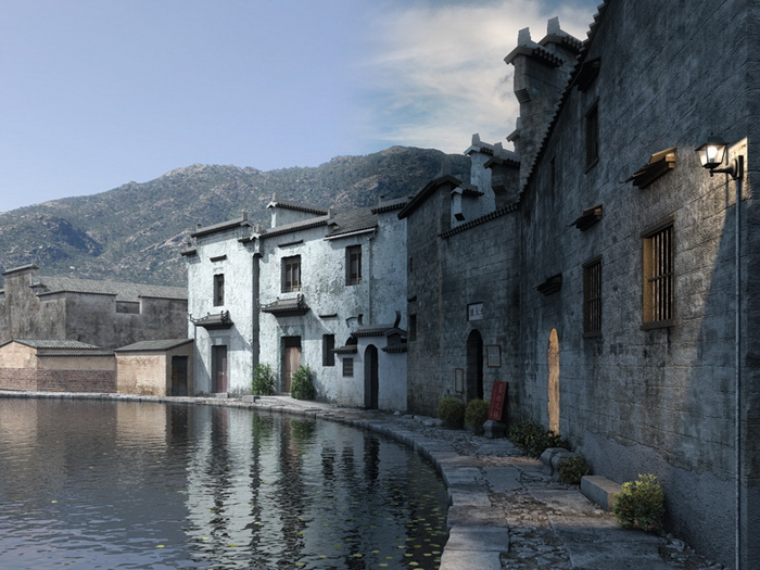 Chinese style model of ancient buildings 3D Model