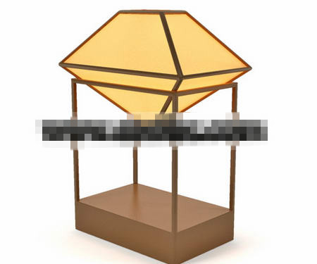 Chinese-style wooden lamp 3D Model