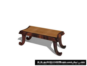 Chinese timber coffee table 3D model