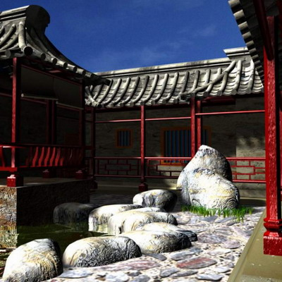 Chinese Traditional Architecture Series: Cloister Courtyard Wall 3D Model
