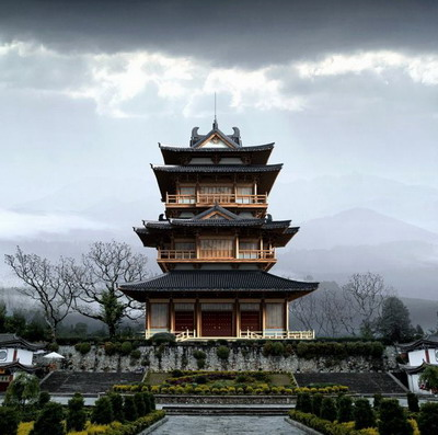Chinese Traditional Architecture Series: Pavilion Tower 3D Model