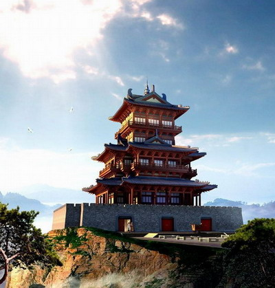 Chinese Traditional Architecture Series: Tower Castle 3D Model