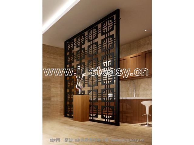Chinese traditional screen 3D model (including materials)