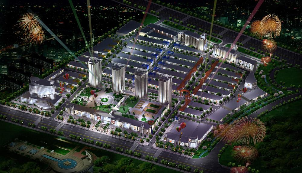 City night lights 3D Model