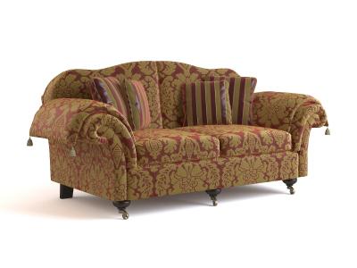 Classic European-style sofa 3D model 1-3