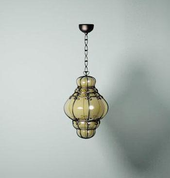 Classic retro metal chandelier 3D Model