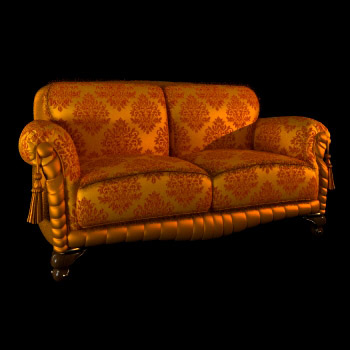 Classical aristocratic sofa 3D Model
