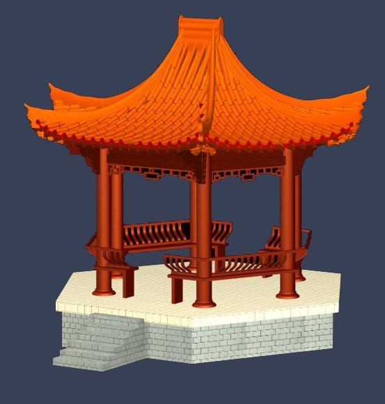 classical Chinese pavilions / outdoor constructions (10) 3D Model