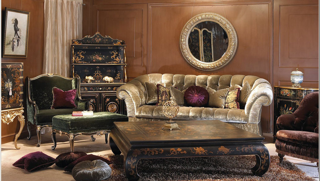 Classical combination of luxury furniture 3D Model