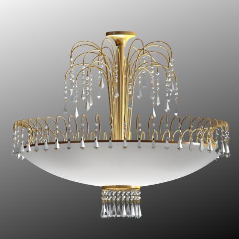 Classical crystal droplight 3D models