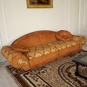 Classical fabric sofa model 3D Model