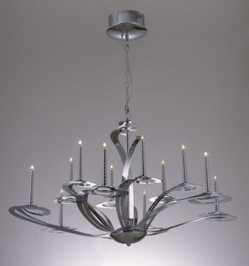 Classical large iron chandelier 3D Model