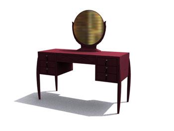 Classical mahogany dresser 3D Model