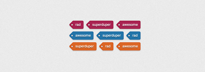 Colored Tags PSD